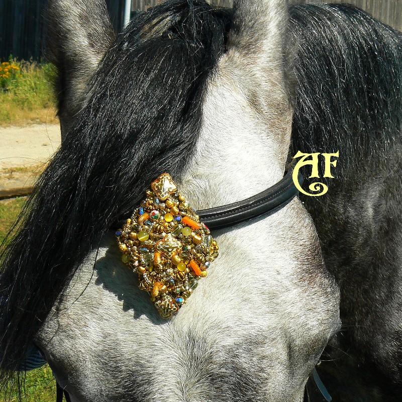 Bijou brodé FRONTAL GOLDEN